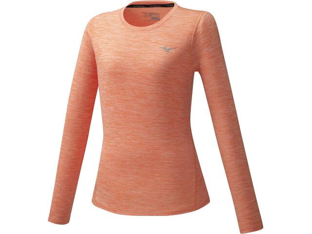 Mizuno Impulse Core T-Shirt À Manches Longues Femme, fusion coral